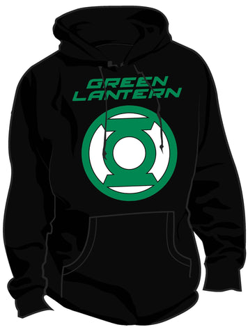 Cool New SALE £10 ONLY | DC Green Lantern Logo Official Mens Hoodie (Black) - Urban Species Mens Hoodie