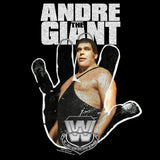 Cool New WWE Andre The Giant Logo Hand Official Women's T-shirt (Black) - Urban Species Ladies Short Sleeved T-Shirt