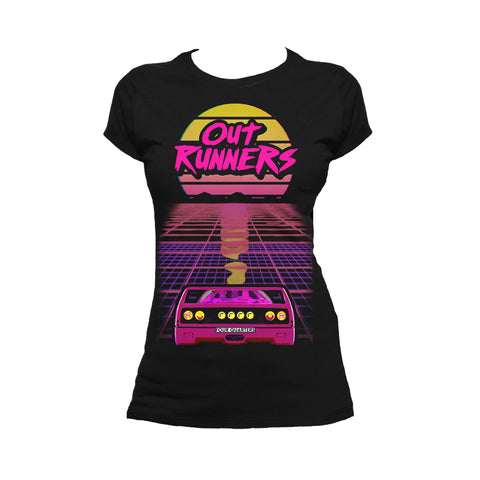 4 Quarters Outrunners Flyer Official Women's T-shirt (Black) - Urban Species Ladies Short Sleeved T-Shirt