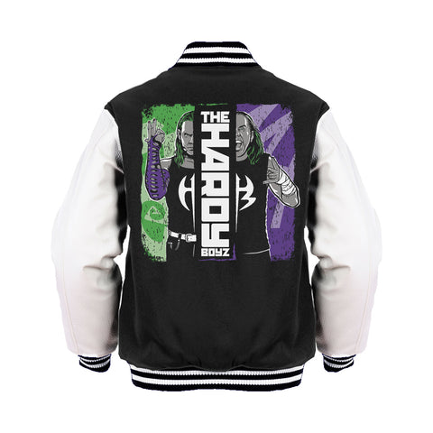 WWE Hardy Boyz Splash Official Varsity Jacket (Black)