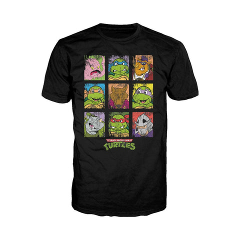 TMNT Group Grid Dist Official Men's T-shirt (Black)