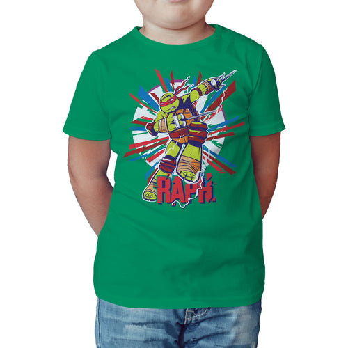 TMNT Raphael Raph Official Kid's T-Shirt (Green) - Urban Species Kids Short Sleeved T-Shirt