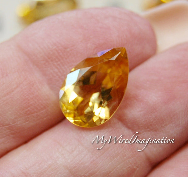 Faceted Genuine Citrine Pear Shape Citrine, Loose Faceted Gemstone