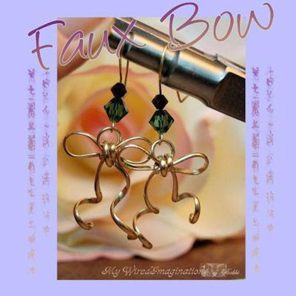Faux Bow Wire Earrings or Pendant, Wire Wrap Jewelry Tutorial