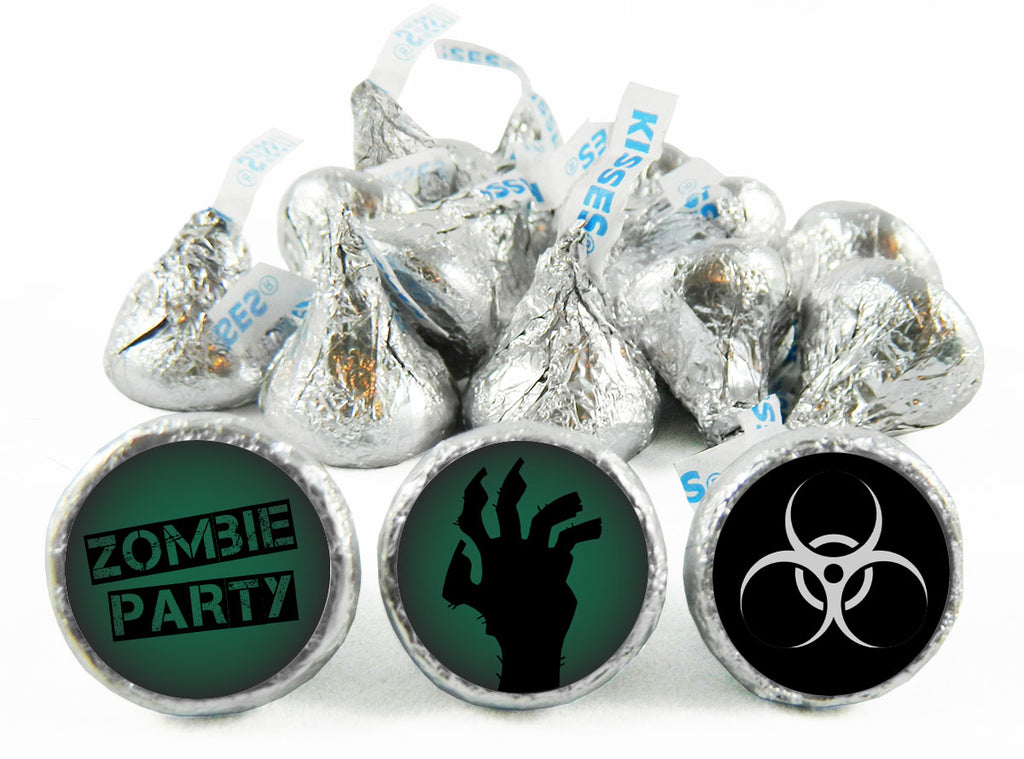 Zombie Birthday Party Labels for Hershey's Kisses
