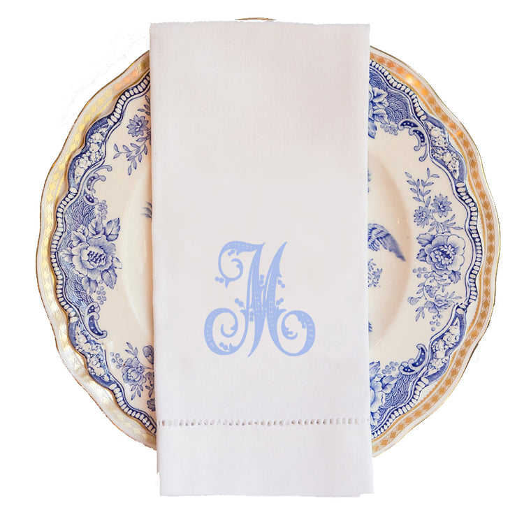 Charleston Monogram Guest Towel