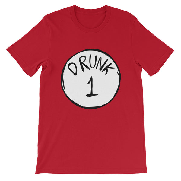 Drunk 1 Unisex short sleeve t-shirt