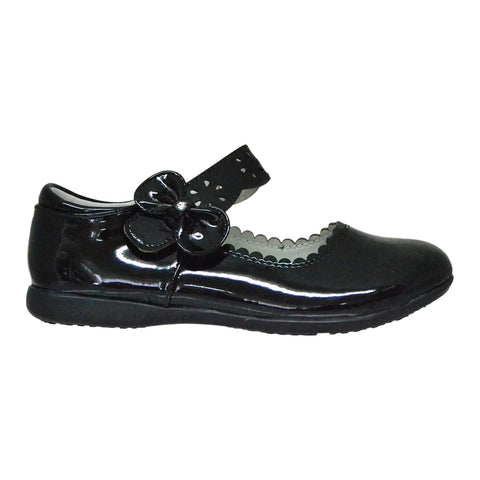 Kids Ballet Flats Scalloped Mary Jane Casual Comfort Shoes Black