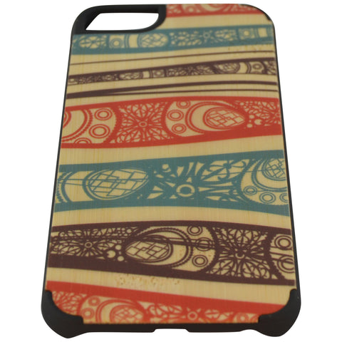 Wooden Case iPhone 6 Hard Bumper Colorful Pattern P Mix