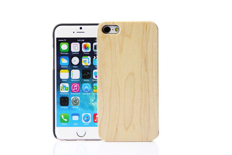 Wooden Case iPhone 6 Hard Cover Cell Phone Protector Maple Bei Beige