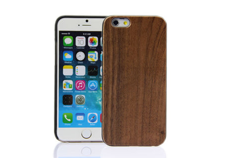 Wooden Case iPhone 6 Hard Cover Cell Phone Protector Walnut Br Brown
