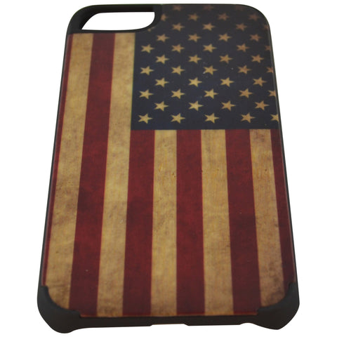 Wooden Case iPhone 6 US Flag Vintage Hard Bumper Co Mix