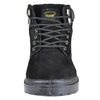 Mens Boots Lace Up Eyelet Suede Leather Hiking Shoes Black