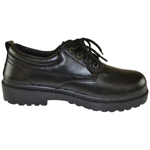 Mens Casual Shoes Lace Up Eyelet Napa Leather Rubber Sole Black