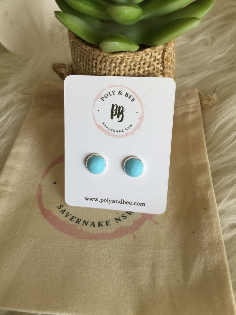 Perfect Pastel Bezel Set Studs