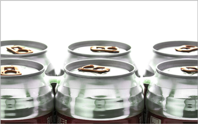 6-pack rings for beverage packaging on soda/beer cans