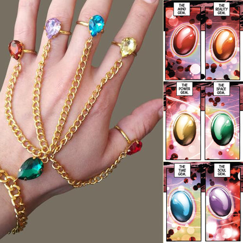50% OFF - LIMITED TIME OFFER - Avengers Infinity Gauntlet Stones Hand Chain
