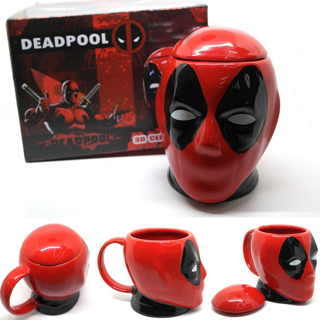 Deadpool 3D Sculpted Ceramic Mug with Lid