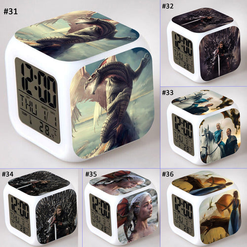 28% OFF LIMITED TIME OFFER - Game of Thrones Character - LED 7 Colours Changing Alarm Clock