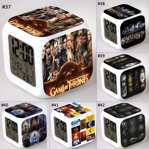 28% OFF LIMITED TIME OFFER - Game of Thrones - LED 7 Colours Changing Alarm Clock