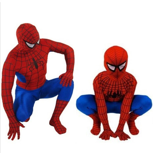 Kid and Adult Spider-Man Costume - Red
