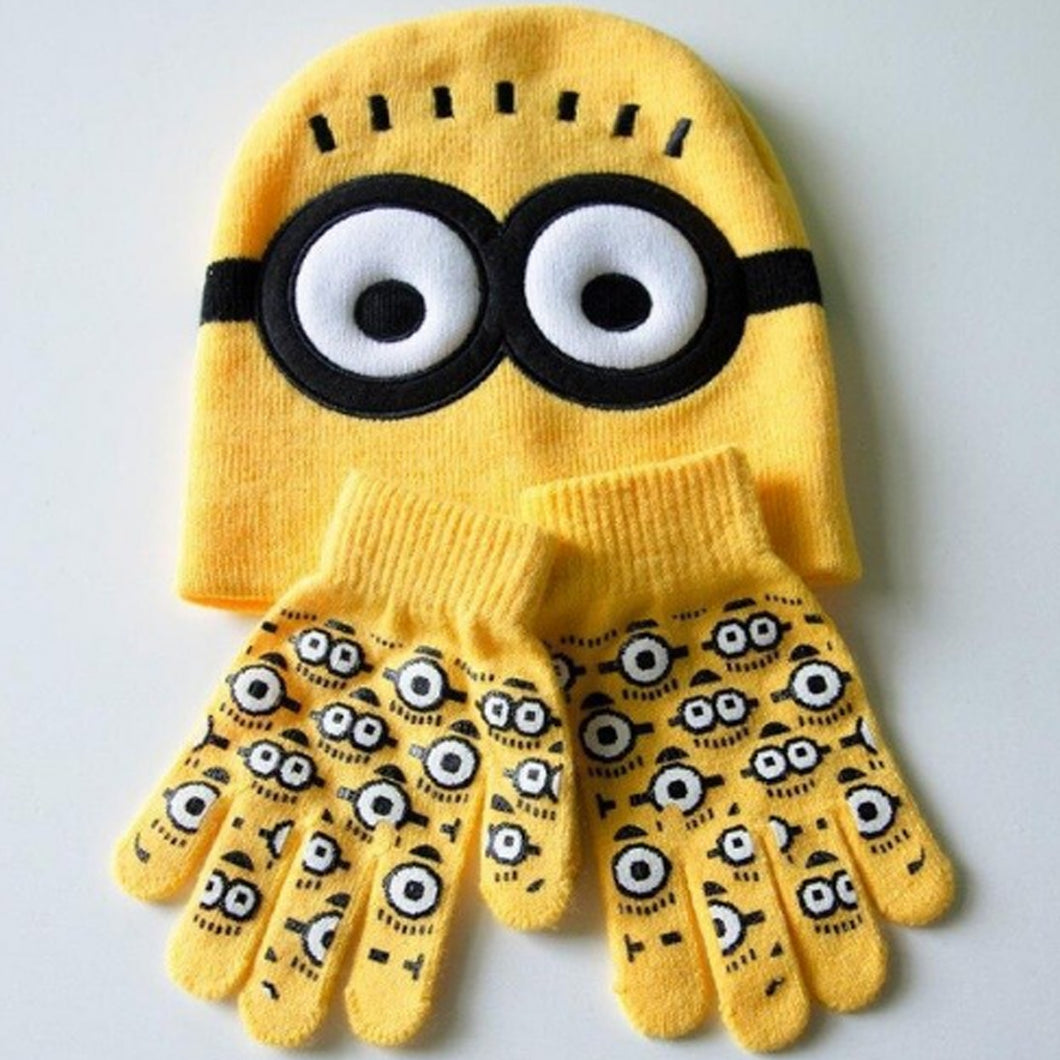 Minion Children Hat and Gloves Set