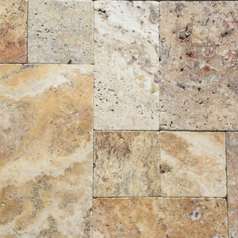 Travertine Antique Scabos Paver Options