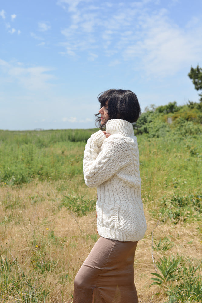 Womens Wool Hand Knit Ethical Sweater