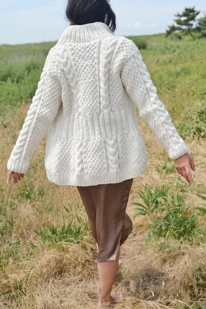 Handmade grandpa cardigan with soft wool that isn't itchy