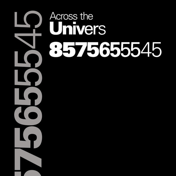 From TypographyShop: Across the Univers Unisex T-shirt - Progresswear