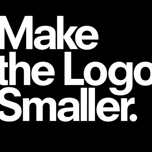 From TypographyShop: Make the Logo Smaller T-shirt - Progresswear