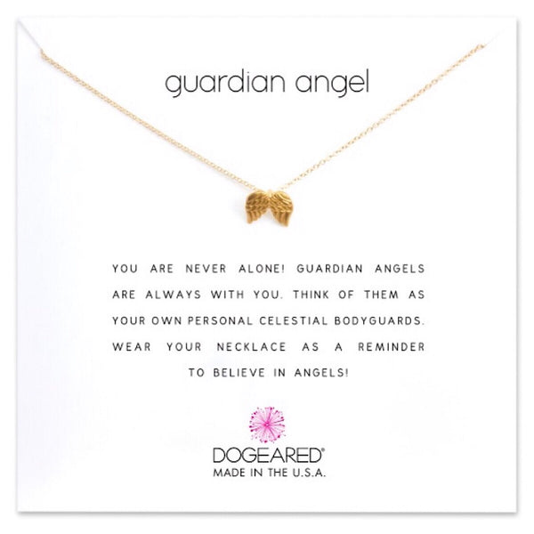 Dogeared® Dipped Gold Guardian Angel Necklace