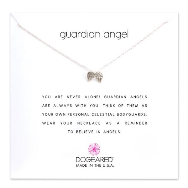 Dogeared® Sterling Silver Guardian Angel Necklace