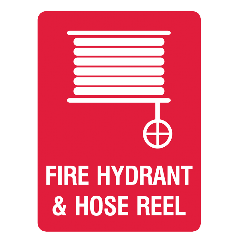 Brady Fire Equipment Signs: Fire Hydrant & Hose Reel