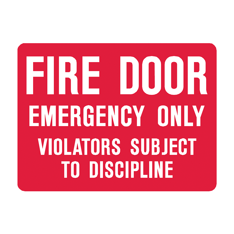 Brady Fire Equipment Signs: Fire Door Emergency Only