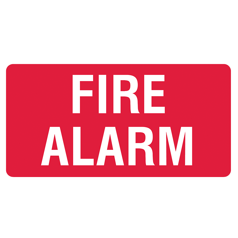 Brady Fire Equipment Signs: Fire Alarm Horizontal