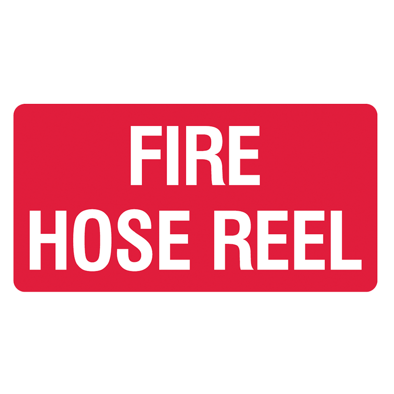 Brady Fire Equipment Signs: Fire Hose Reel (Landscape)