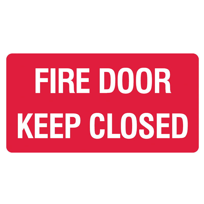 Brady Fire Equipment Signs: Fire Door Keep Closed (Landscape)