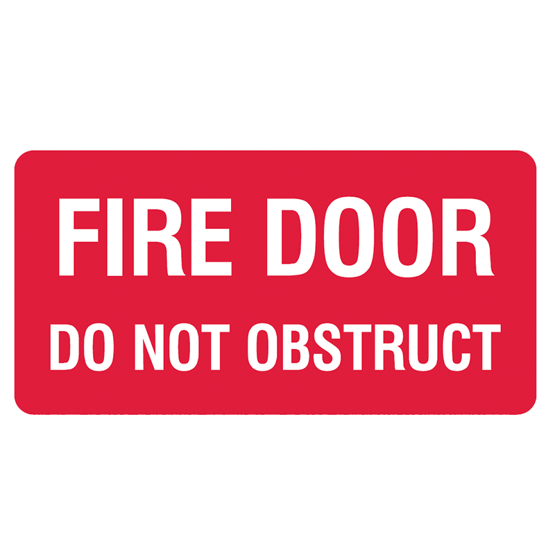 Brady Fire Equipment Signs: Fire Door Do Not Obstruct (Landscape)