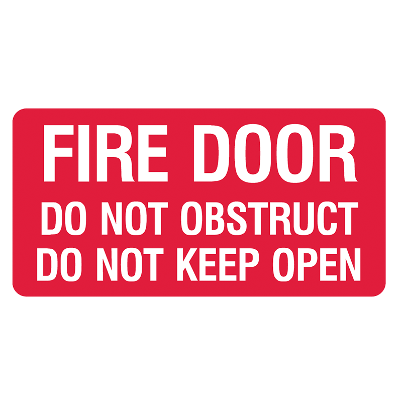 Brady Fire Equipment Signs: Fire Door Do Not Keep Open (Landscape)