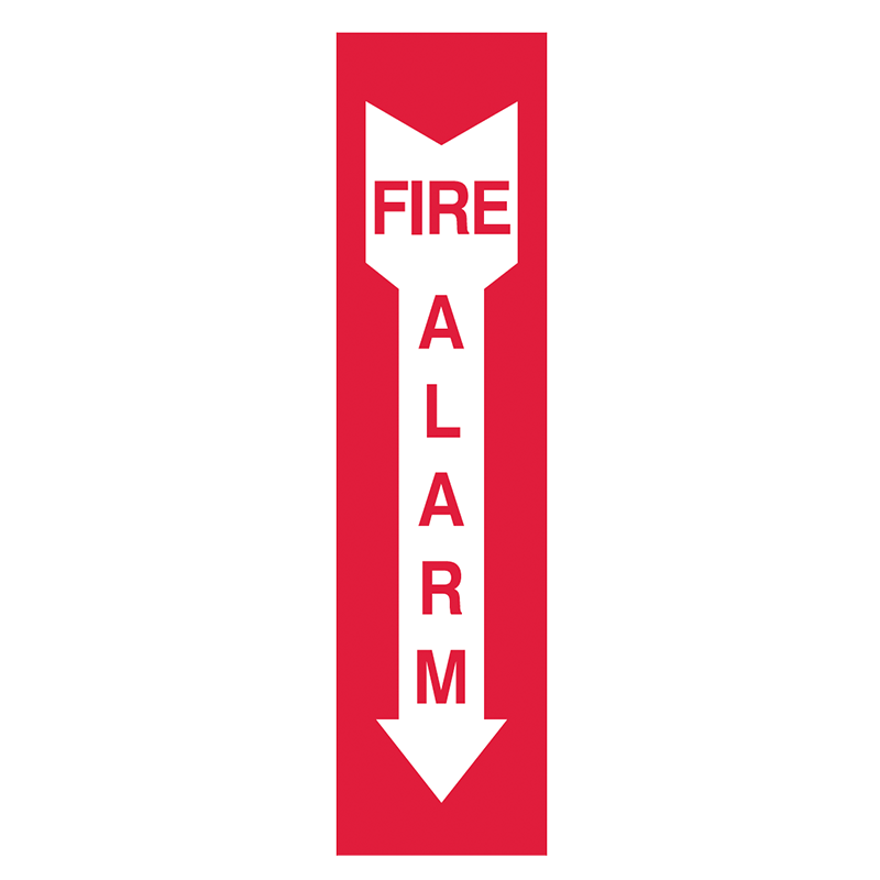 Brady Fire Equipment Signs: Fire Alarm (Directional Arrows)