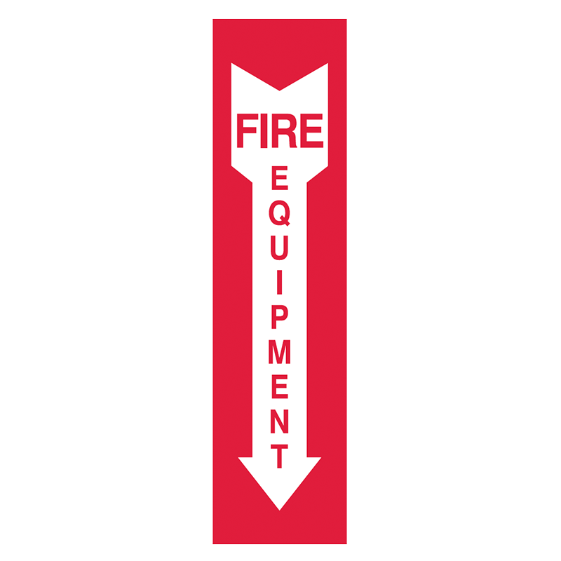 Brady Fire Equipment Signs: Fire Equipment (Directional Arrows)
