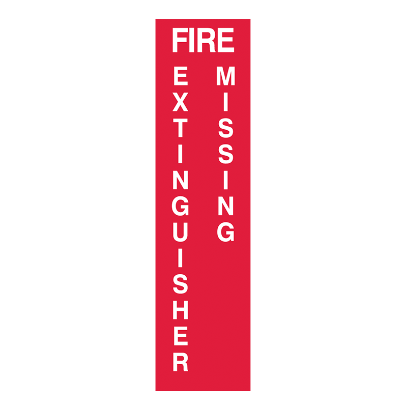 Brady Fire Equipment Signs: Fire Extinguisher Missing (Directional Arrows)