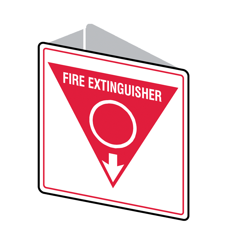 Brady Fire Equipment Signs: Fire Extinguisher (Double Sided)