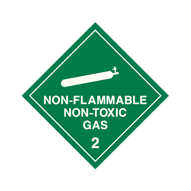 Brady Dangerous Goods Sign / Placard - Class 2 Non Flammable Non Toxic (white)