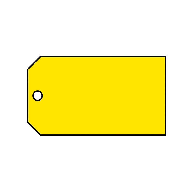 Brady Material Control Tag Blank Yellow 65373
