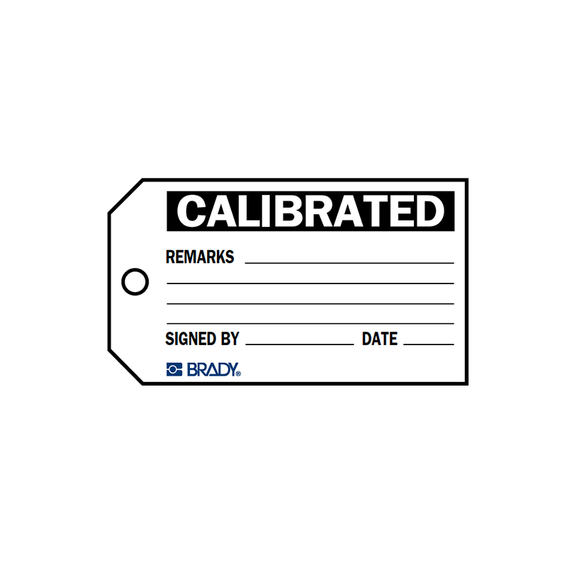 Brady Material Control Tag Calibrated 76158