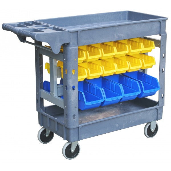 Tradequip Workshop Trolley 30 Parts Bins Polymer 6046