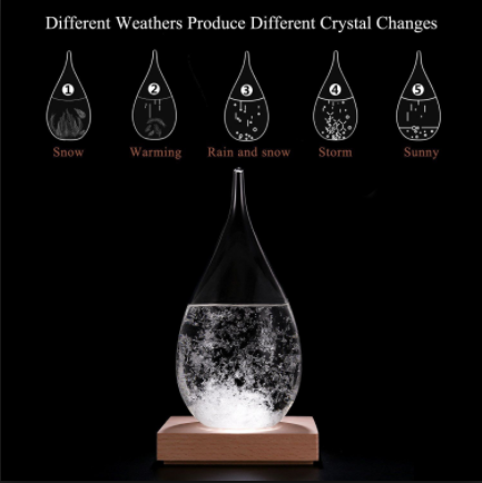 Weather Forecast Crystal Water Drop Shape