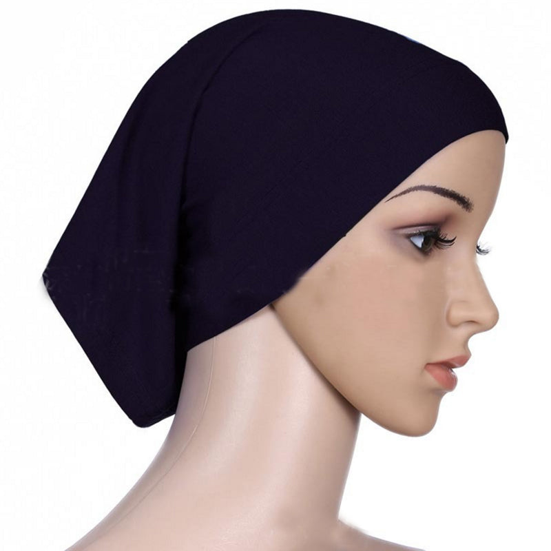 1 Pc 2017 Fashion Lady  Muslim Cotton Hijab Cap Islamic Head Wear Hat Women's Head Scarf Cotton Underscarf Hijab Cover Headwrap